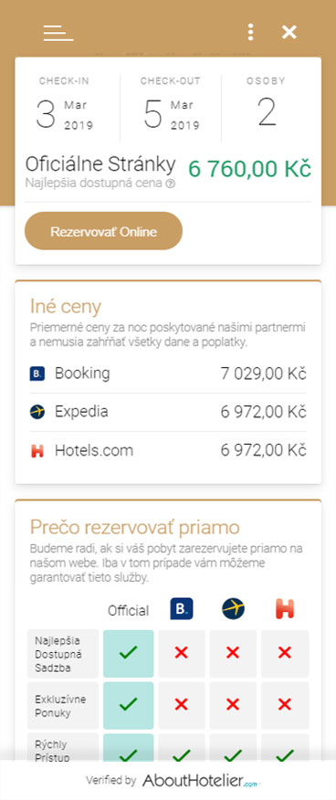 price widget