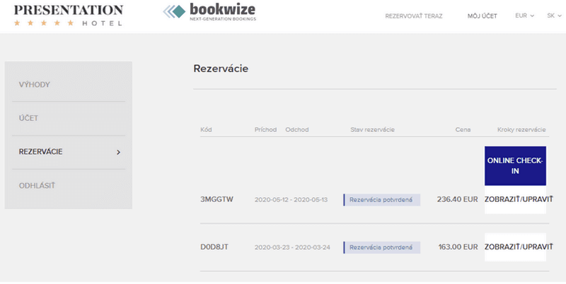 Booking engine Bookwize